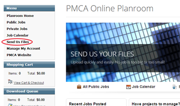 PMCA Send Us Files
